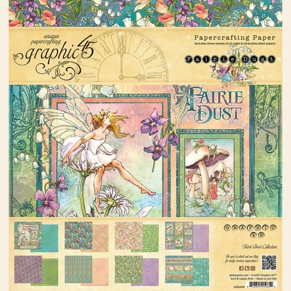Graphic 45 Fairie Dust Paper Pad